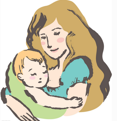 最慈祥母亲矢量图