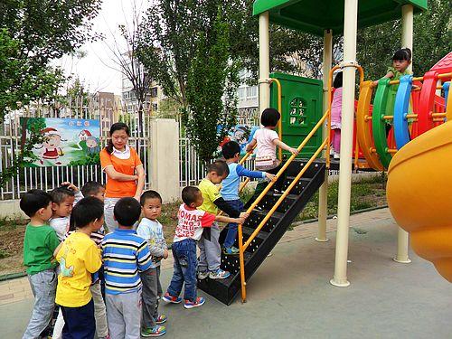 幼儿园玩滑梯排队规则图示